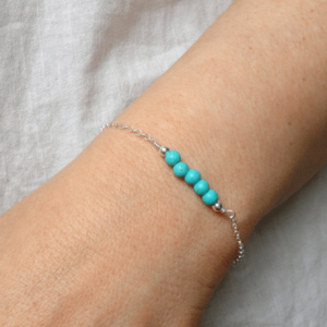 Bracelet With Blue Beads. Click here for more beautiful delicate bracelets. Shop all musthave jewellery by Aphrodite. Free worldwide shipping and gift.