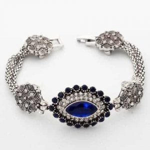 Bracelet With Blue Crystal. Click here for more beautiful crystal bracelets. Shop all musthave jewellery by Aphrodite. Free worldwide shipping and gift.