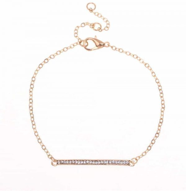 Crystal Bar Bracelet. Click here for more beautiful delicate bracelets. Shop all musthave jewellery by Aphrodite. Free worldwide shipping and gift.