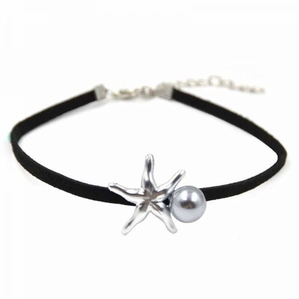Choker With Pearl and Starfish. click hear to shop more beautiful chokers. Shop all musthave jewellery by aphrodite. Free worldwide shipping and gift.
