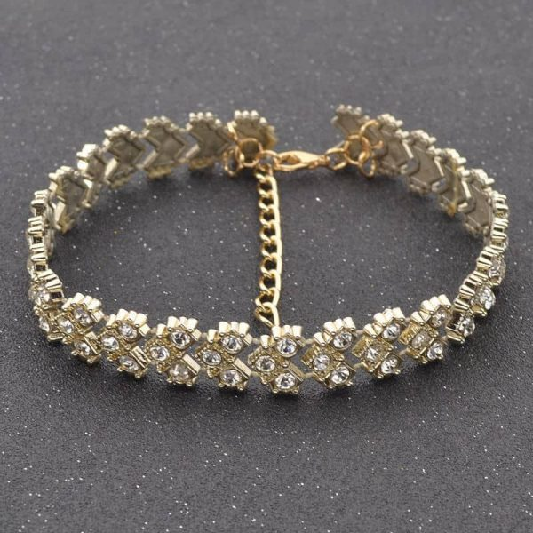 Choker With Rhinestones. click hear to shop more beautiful chokers. Shop all musthave jewellery by aphrodite. Free worldwide shipping and gift.