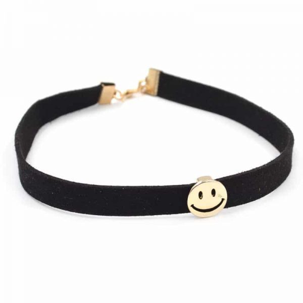 Choker With Smiley. click hear to shop more beautiful chokers. Shop musthave jewellery by aphrodite. Free worldwide shipping and gift.