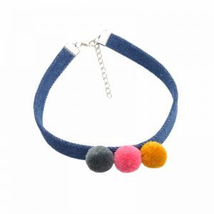 Choker With Pom Pom. click hear to shop more beautiful statement necklaces. Shop all musthave jewellery by aphrodite. Free worldwide shipping and gift.