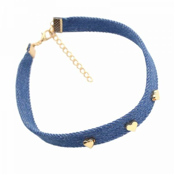 Choker With Three Gold Hearts. click hear to shop more beautiful chokers. Shop all musthave jewellery by aphrodite. Free worldwide shipping and gift.