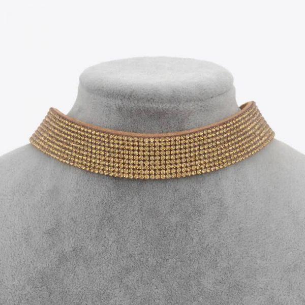 Gold Sparkly Choker, jewellery, jewelry, crystal, shine
