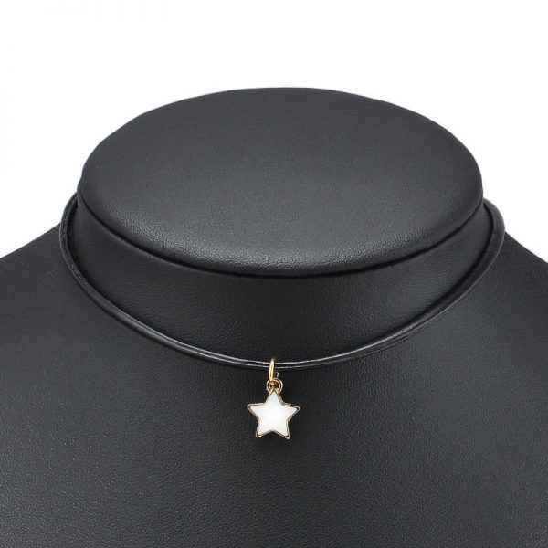 Choker With Star Pendant. click hear to shop more beautiful chokers. Shop all musthave jewellery by aphrodite. Free worldwide shipping and gift.