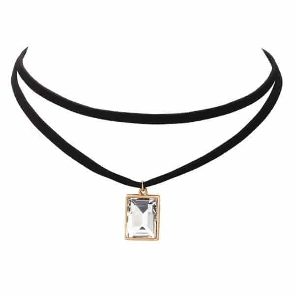 Choker With Crystal Pendant. click hear to shop more beautiful chokers. Shop all musthave jewellery by aphrodite. Free worldwide shipping and gift.