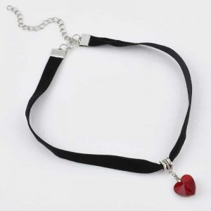 Choker With Red Heart. click hear to shop more beautiful chokers. Shop all musthave jewellery by aphrodite. Free worldwide shipping and gift.