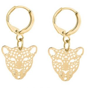 creole earrings, panther, gold, jewellery