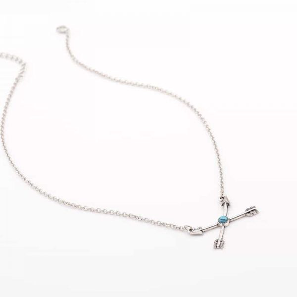 Silver Cross Arrow Necklace. Click here for more beautiful delicate necklaces. Shop all musthave jewellery by Aphrodite. Free worldwide shipping and gift.