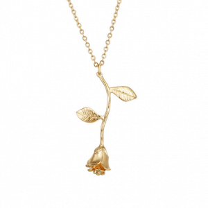 Rose Necklace - Gold And Silver. Click here for more delicate necklaces. Shop all musthave jewellery by Aphrodite. Free worldwide shipping and gift.