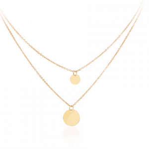 double disc layered necklace.click here for more beautiful layered necklaces. shop all musthave jewellery by Aphrodite