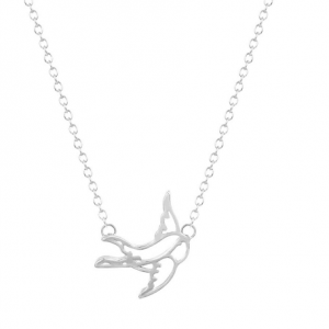 Silver Bird Necklace.Click here for more beautiful delicate necklaces. Shop all musthave jewellery by Aphrodite. Free worldwide shipping and gift.
