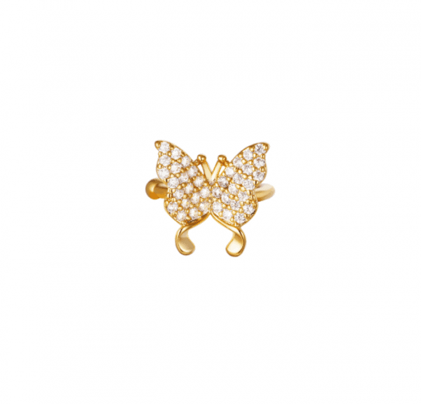 ear cuff, vlinder, diamanten, zirkonia, kristallen, nikkel vrij, sieraden, dames, accessoires