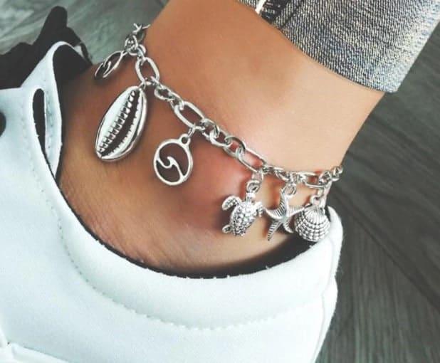 enkelbandjes met bedels,zilver,sieraden