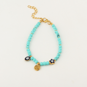 Turquoise Evil Eye Bracelet. Click here for more beautiful bracelets. Shop all musthave jewellery by Aphrodite. Free worldwide shipping and gift.