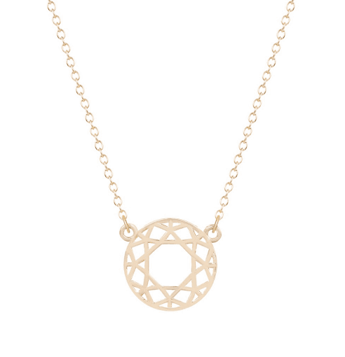 Simple Gold Geometric Circle Necklace.Click here for more beautiful necklaces. Shop all musthave jewellery by Aphrodite. Free worldwide shipping and gift.