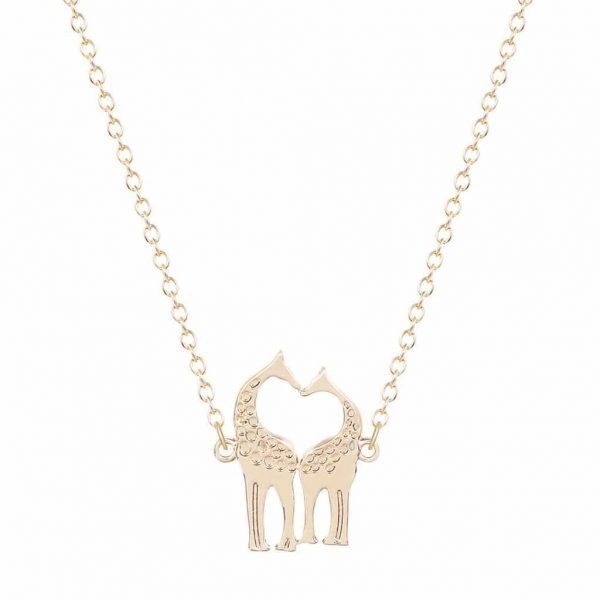 necklace chain from sterling giraffe card reads charm on crowd out the silver stand