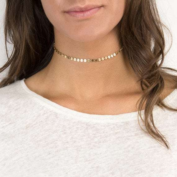 Gold Disc Choker. click hear to shop more beautiful chokers. Shop all musthave jewellery by aphrodite. Free worldwide shipping and gift.