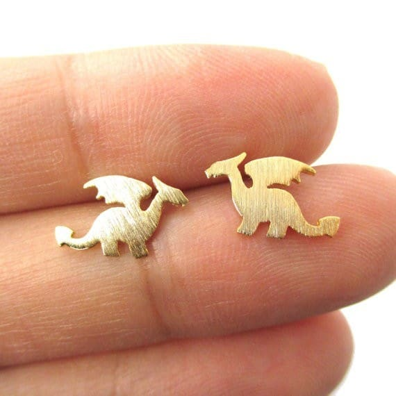 Gold Dragon Earrings Click Here For More Cute All Musthave Jewellery By