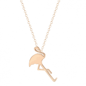 Gold Flamingo Necklace. click hear to shop more beautiful delicate necklaces. Shop all musthave jewellery by aphrodite. Free worldwide shipping and gift.