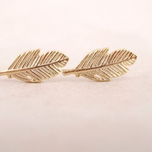 Gold Leaf Earrings.Click here for more delicate earrings. Shop all musthave jewellery by Aphrodite. Free worldwide shipping and gift.