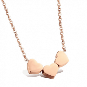 Gold Three Hearts Necklace.click hear to shop more beautiful necklaces. Shop all musthave jewellery by aphrodite. Free worldwide shipping and gift.
