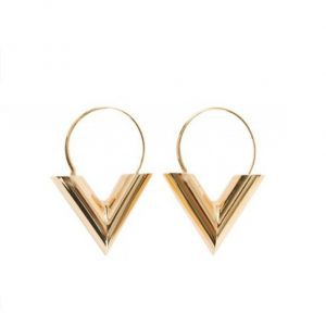 gold V Shape Earrings. Click here for more lovely gold and silver earrings. Shop all musthave jewellery by Aphrodite. Free worldwide shipping and gift.