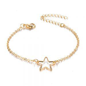 minimalist bracelet, gold, star, jewellery, trendy, armparty