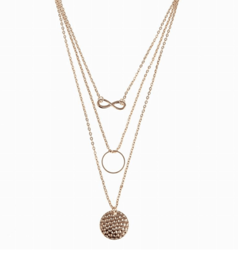 Infinity layered necklace. Click hear for more beautiful layered necklaces.Shop all musthave jewellery by aphrodite.Free worldwide shipping.