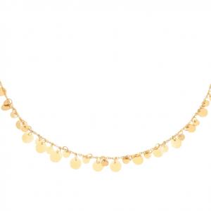 ketting, muntjes, stainless steel, sieraden, nikkelvrij, dames, jewellery, jewelry
