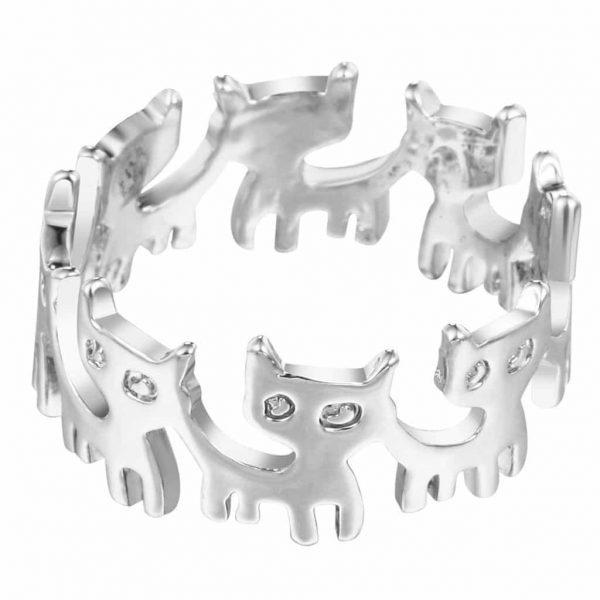 Ring met kat design.Voor meer leuke ringen klik hier.Shop alle musthave sieraden bij aphrodite.Bestel snel en veilig.Gratis verzending en cadeau.