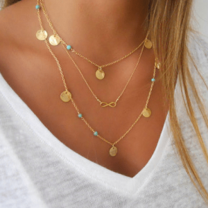 Layered Necklace Infinite.Click hear for more beautiful layered necklaces.Shop all musthave jewellery by aphrodite.Free worldwide shipping.