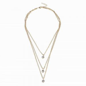 Layered Crystal Necklace. Click hear for more beautiful layered necklaces.Shop all musthave jewellery by aphrodite.Free worldwide shipping.
