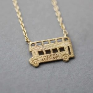 London Bus Necklace. Click here for more beautiful delicate necklaces. Shop all musthave jewellery by Aphrodite. Free worldwide shipping and gift.