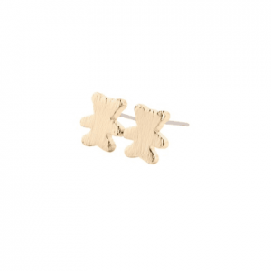 Minimalist Bear Earrings - Gold. Click here for more delicate silver and gold earrings. Shop all musthave jewellery by Aphrodite. Free worldwide shipping.