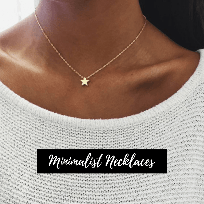 minimalist necklaces. aphrodite, jewellery, star
