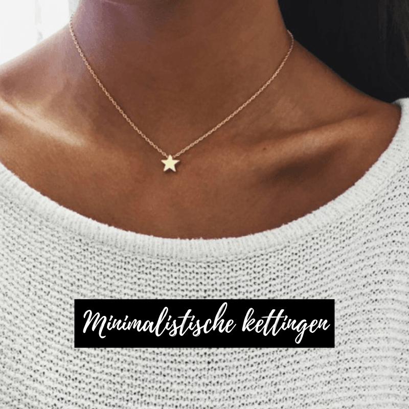 minimalistische kettingen, aphrodite, sieraden