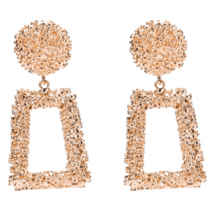musthave,statement oorbellen, rechthoek, goud