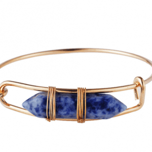 Bracelet With Blue Natural Stone. Click here for more beautiful bracelets. Shop all musthave jewellery by Aphrodite. Free worldwide shipping and gift.