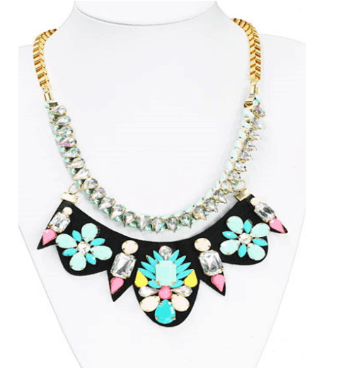 Pastel Statement Necklace. Click here for more beautiful statement necklaces. Shop all musthave jewellery by Aphrodite. Free worldwide shipping and gift.