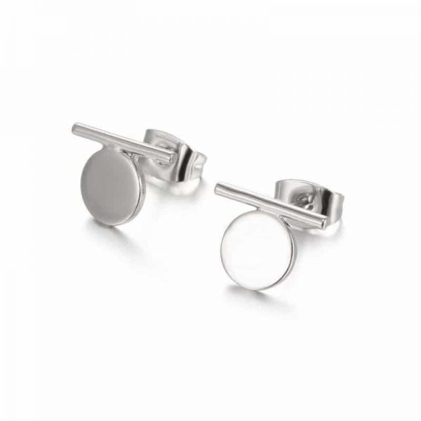 Silver Bar And Circle Earstuds. Click here to for more delicate earrings. Shop all musthave jewellery by Aphrodite. Free worldwide shipping and gift.