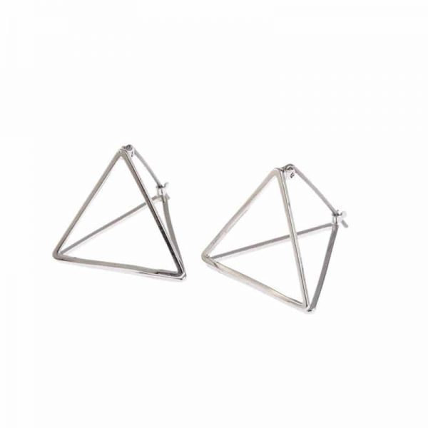 Silver Geometric Earrings. Click here for more delicate earrings. Shop all musthave jewellery by Aphrodite. Free worldwide shipping and gift.