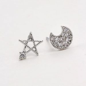 Moon and star earstuds.Click here for more cute earrings. Shop all musthave jewellery by Aphrodite. Free worldwide shipping and gift.