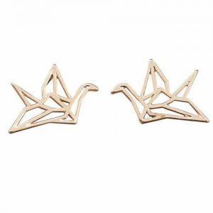 Gold Origami Earstuds. Click here for more cute earrings. Shop all musthave jewellery by Aphrodite. Free worldwide shipping and gift.