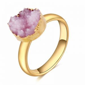 Pink Druzy Ring. Click here for more beautiful rings . Shop all musthave jewellery by Aphrodite. Free worldwide shipping and gift.