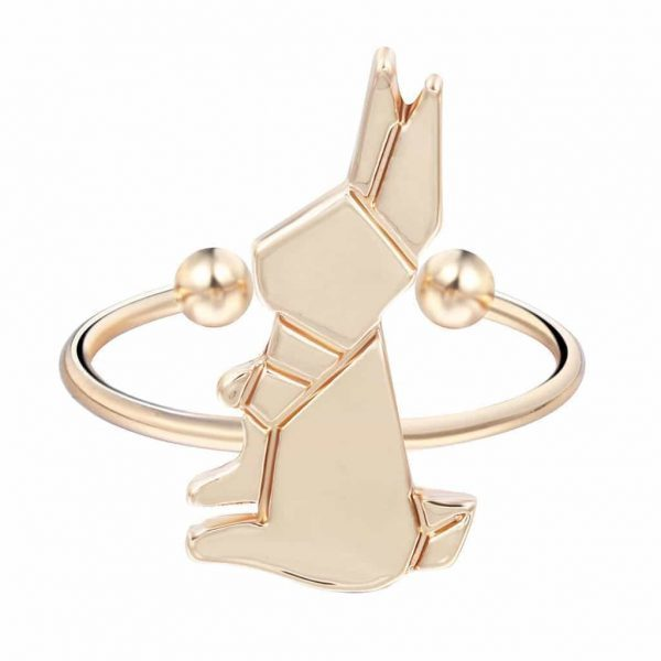 minimalistic rabbit ring, gold , jewellery, trendy