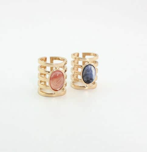 Statement Ring, gold, blue stone, jewellery, ringparty