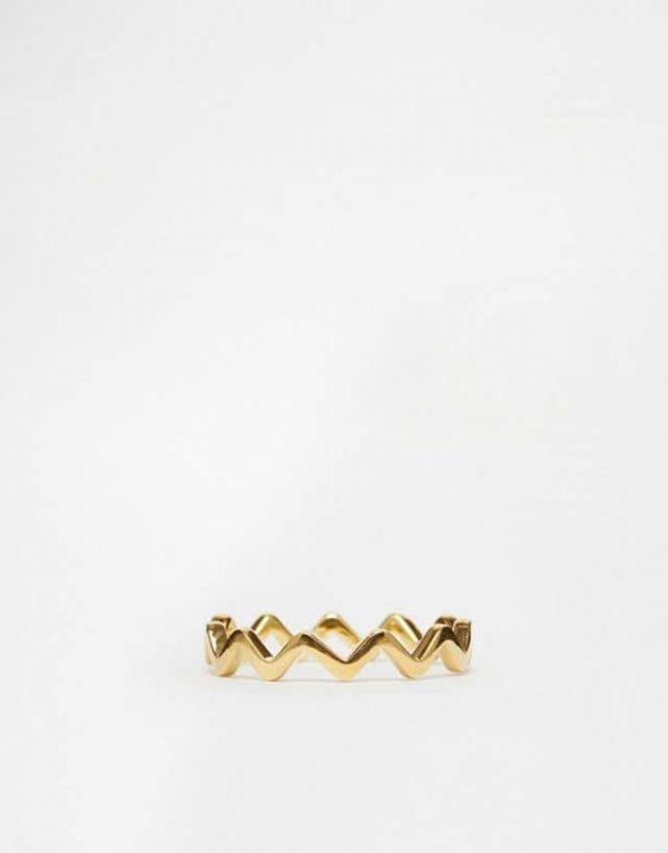 zig zag ring.Klik hier voor meer leuke minimalistische ringen.Shop alle musthave sieraden bij aphrodite. Gratis verzending en cadeau.
