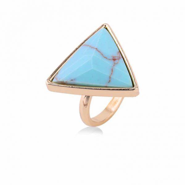 Marmer Ring Blauw. Klik hier voor meer leuke ringen. Shop alle musthave sieraden bij Aphrodite. Gratis verzending en cadeau.